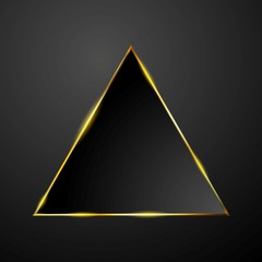 Abstract tech glowing triangle background