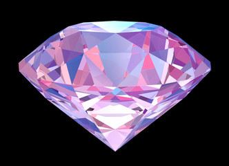 Big colorful diamond isolated with clipping path