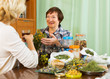Two mature pensioner with  herbs
