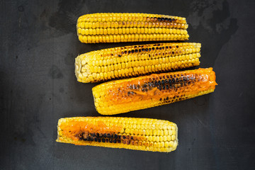 Grilled corn with