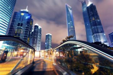 Shanghai city. Nights Pudong