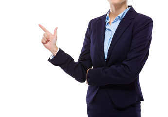 Businesswoman hand with tick sign