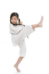 asian girl in white kimono