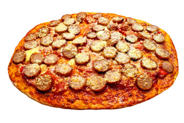 Pizza With Pepperoni and Sausage