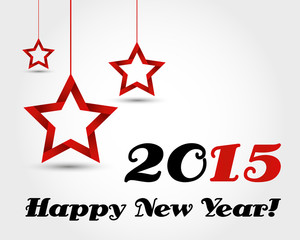 new year 2015 with stars