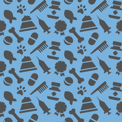 wallpaper with painted veterinary facilities