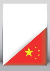 Illustration of an binder or holder with the flag of China
