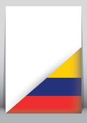 Illustration of an binder or holder with the flag of Colombia