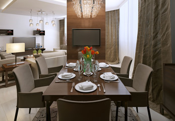 Dining room modern interior