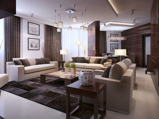 Living room modern interior