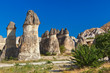 Rock formations in Cappadocia Turkey
