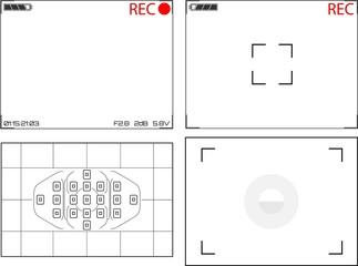 Illustration of Video Camera Viewfinder Displays