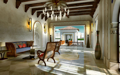 Lobby spa oriental style