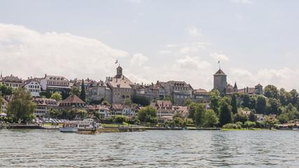 Murten, Altstadt, Murtensee, Schloss, Rathaus, Schweiz