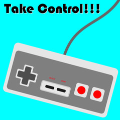 Illustration of Vintage Console Controller