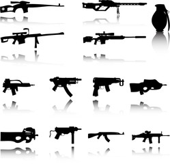 An Illustration of Set of Weapons