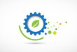 abstract gear ecology business and technology computer vector ba