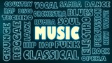 music relative tags cloud