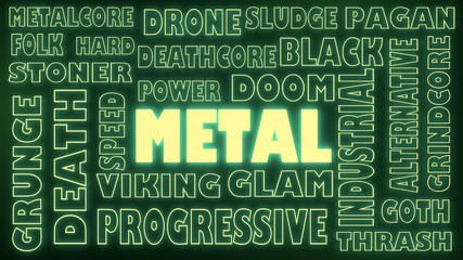 metal genres tags cloud