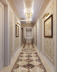 Hallway in luxury style
