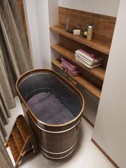Bathing room rustic style