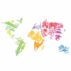 Watercolor vector map