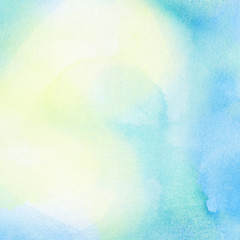 Abstract summer watercolor background.