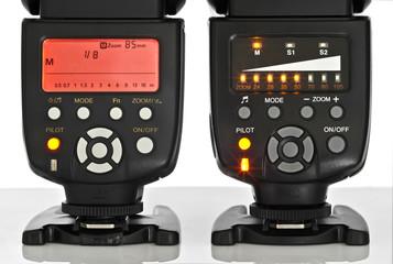 Modernes und älteres Speedlight Display