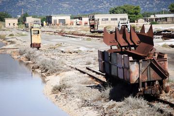 Saltwork rusty wagon