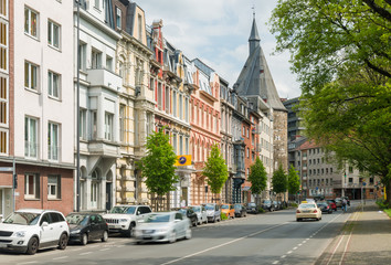 Straßenverkehr in Aachen