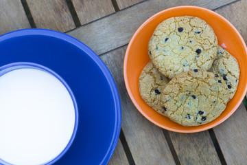 biscotti americani e latte