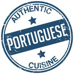 portuguese cuisine stamp