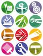 Werkzeuge und Handwerker Zeichen