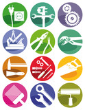 Fototapety Werkzeuge und Handwerker Zeichen