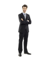 Full length portrait of young businessman