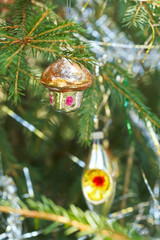 glass home and lantern christmas decoration
