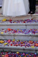 Streublumen bei der Hochzeit