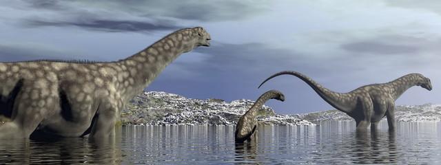 Argentinosaurus dinosaurs family - 3D render
