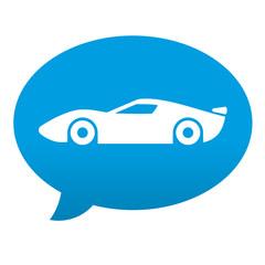 Etiqueta tipo app azul comentario simbolo deportivo