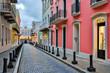 Street in old San Juan, Puerto Rico - 69077467