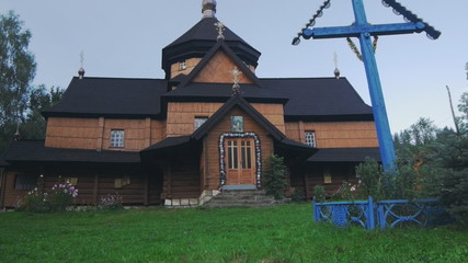 Ukrainian national church. Carpathians village Krivorivnya