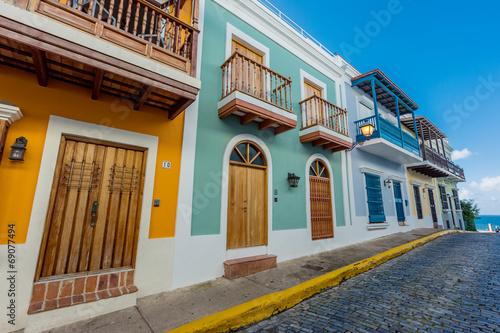 Fotobehang Caraïben Street in old San Juan, Puerto Rico