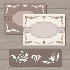 Decorative cards vector template