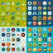 Zdjęcia na płótnie, fototapety, obrazy : Set of veterinary flat icons
