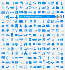 Set of Medicine stickers