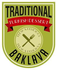 turkish baklava label