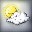 canvas print picture - Sonne gegen Wolke