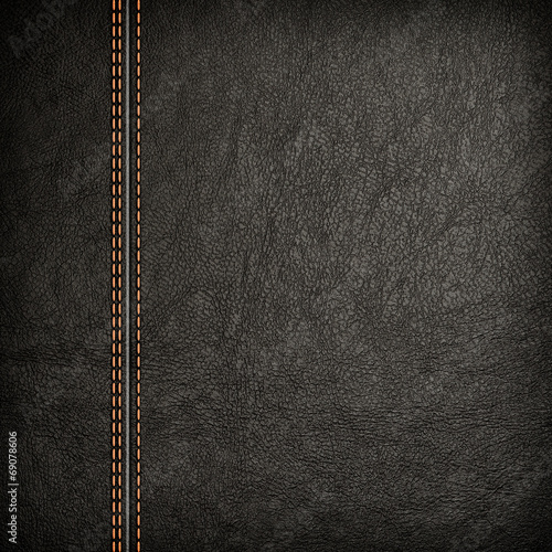 Fotobehang Stof stitched leather background