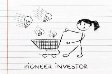 investor capitalist, selecting ideas and start-ups to invest on