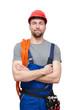 canvas print picture - freundlicher Arbeiter/Mechaniker/Monteur/Bauarbeiter